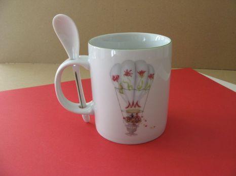 porcelaine - mug avec cuillere