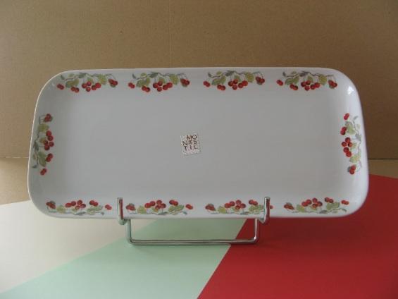 porcelaine - plat a cake 31, 5 par 14, 5 cm