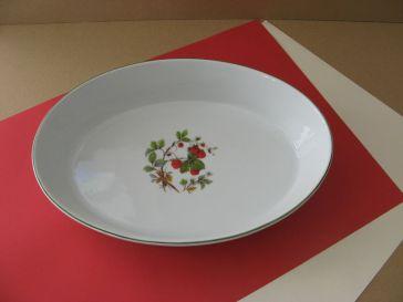 porcelaine - plat a rotir ovale