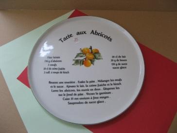 porcelaine - plat a tarte recette