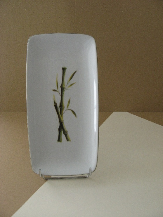 porcelaine - plat rectangulaire sahara