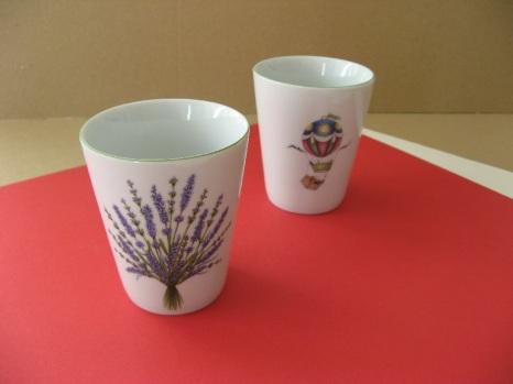 porcelaine - verre conique