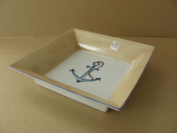 porcelaine - vide poche putoise brun 2