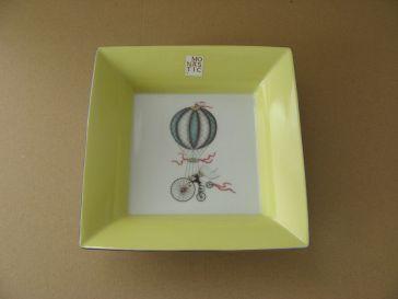 porcelaine - vide poche putoise jaune